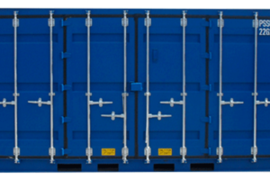 sidedørs container